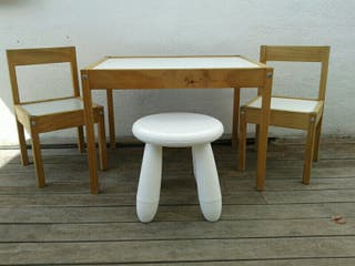 Mesa+sillas+taburete IKEA