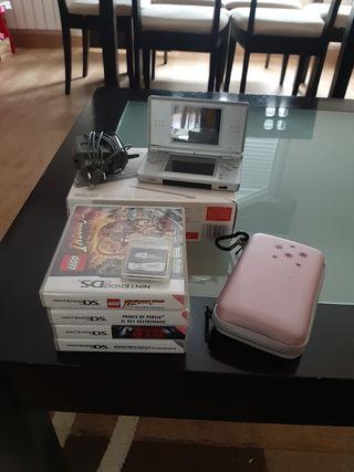 Nintendo ds lite plateada