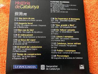 """CDs """"Història de Catalunya"""" de la vanguardia"""