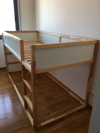 IKEA KURA cama reversible, 90x200cm