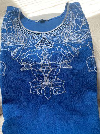 Vestido Cortefiel bordado talla M
