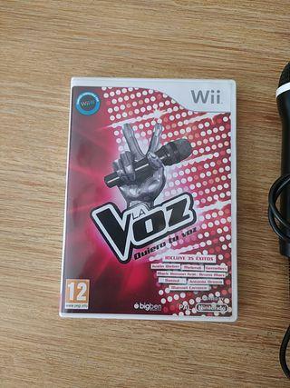 """Juego para Wii """"La Voz"""" con dos micrófonos"""