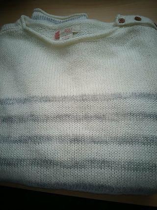 jersey gris crema nila