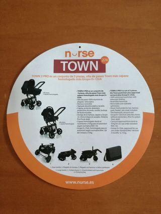 carrito de 3 piezas nurse town tejano