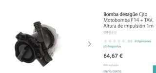 Bomba de agua lavadora SIEMENS código 00145212