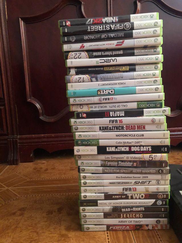 Xbox 360 juegos y mandos