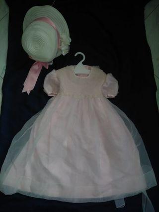 precioso vestido de bebé de 4 a 9 meses para bodas