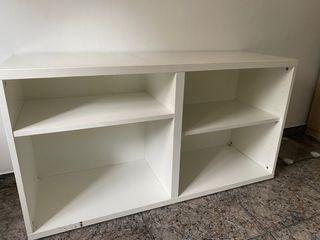 Mueble bajo de estanterias