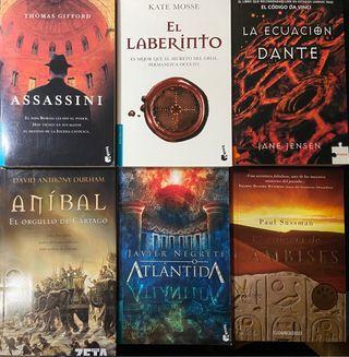 Pack 6 libros de bolsillo de intriga y aventuras