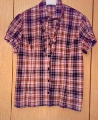 lote de 5 camisas mujer MC y desmangadas, t-42.