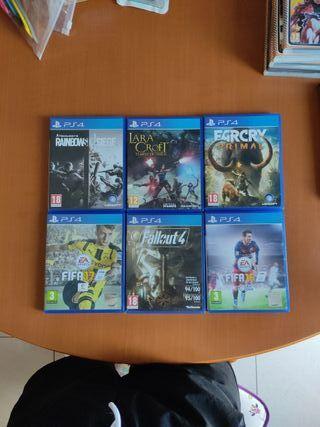 Varios juegos para PS4
