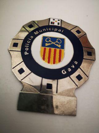 Placa de policía municipal de Gava antigua