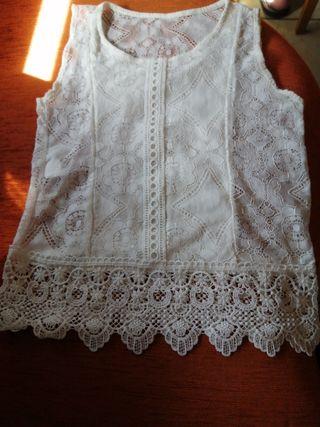 Blusa blanca talla S