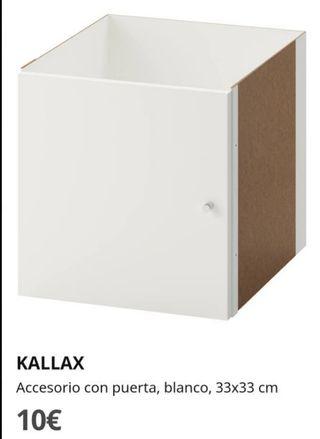 4 unidades puerta kallax blanco