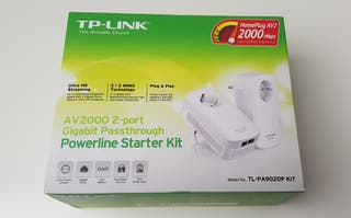 PLC AV2000 TP-LINK 2GB/S CON ENCHUFES INCLUIDOS