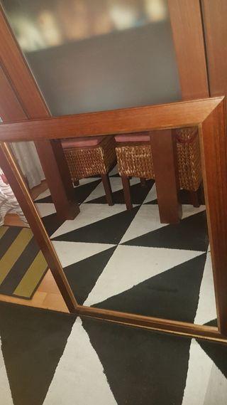 Espejo madera 90x70cm