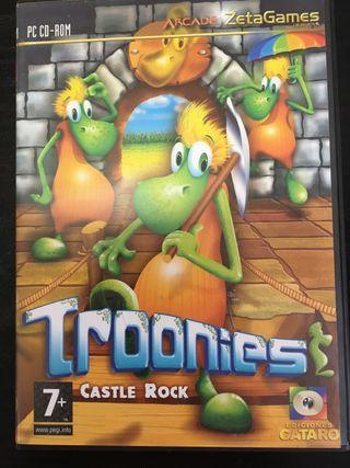 Troonies castle rock videojuego arcade vintage pc