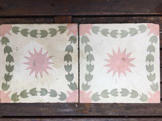 Antiguas Baldosas hidraulicas raras 20 x 20 cm