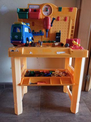 Juguete mesa taller bricolaje