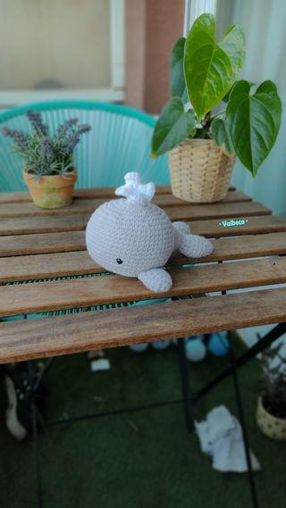 Muñeco ballena ganchillo/croche para bebés o niños
