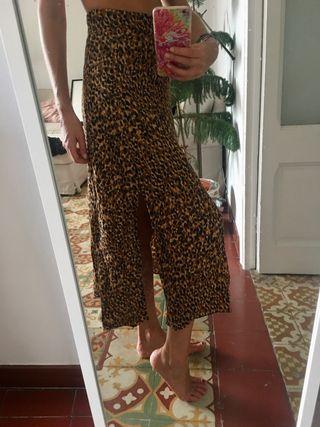 Falda leopardo animal print Zara trf