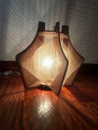 Antigua lámpara de madera