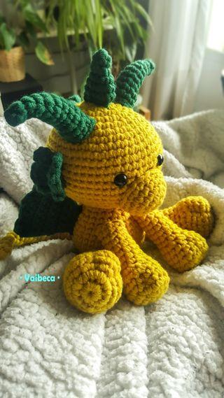 Muñeco dragón para bebé o niño ganchillo/crochet