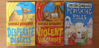 Pack 3 libros de Horrible Geography (en inglés)
