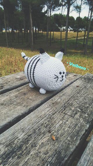 Muñeco gato ganchillo/crochet para bebés o niños