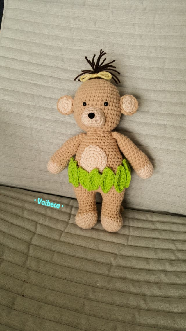 Muñeco mona ganchillo/crochet para bebés o niños