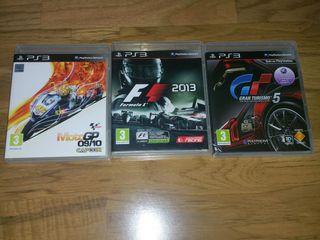 Moto GP 10 Fórmula 1 2013 y Gran Turismo