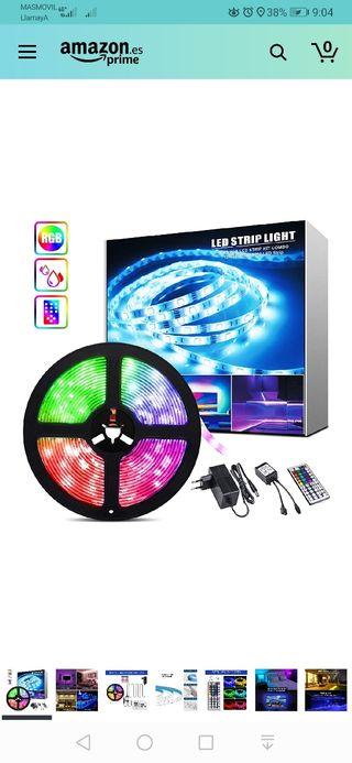 5M Tiras LED RGB, 12V 150 LEDS Tiras LED 5050 Ilum