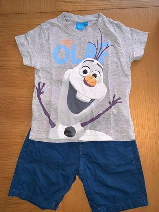 Conjunto Disney Olaf talla 4-5 años