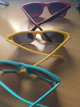 Tres gafas sol