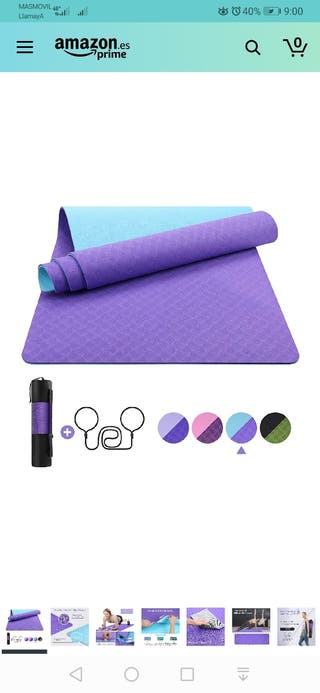 EgoIggo Esterilla Yoga Antideslizante, Yoga Mat Co