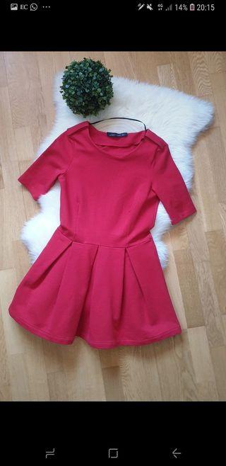vestido zara rojo talla S