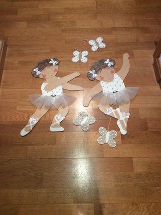 Siluetas bailarinas cartón piedra