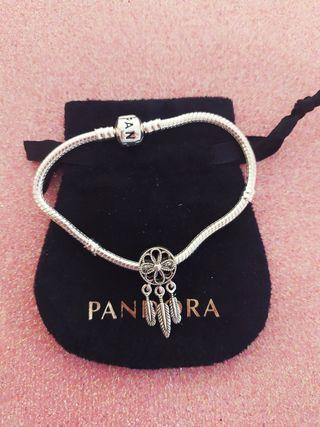 Pulsera estilo Pandora + charm