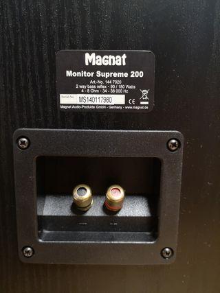 Altavoces Magnat Supreme 200