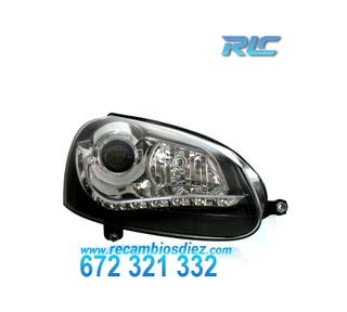 FAROS VW GOLF MK5 LUZ DIURNA LED NEGRO