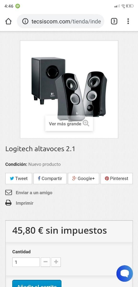 altavoces logitech