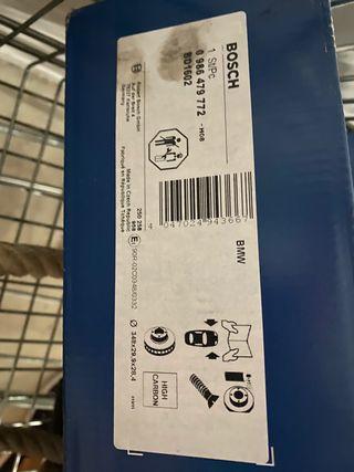 Discos y pastillas freno Bosch BMW serie 5