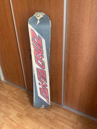 Tabla de snowboard Vintage de marca Santa Cruz