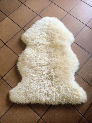 Piel De Cordero/Oveja Organico Blanco 115 X 85 cms