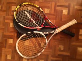 Raquetas de tenis (Babolat y Tecnifibre)