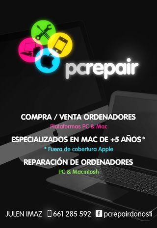 PCRepair - Reparacion y compraventa de Mac / PC