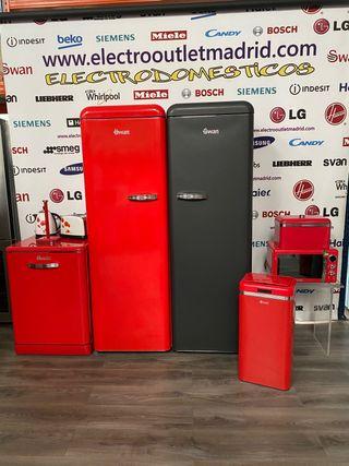 Conjunto retro swan frigorífico y congelador