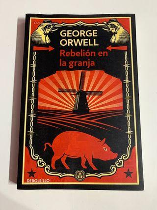 """Libro """"Rebelión en la granja"""" edición Debolsillo"""