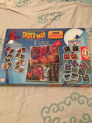 Spiderman dominó memory puzzle