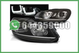 FAROS DELANTEROS LINEA CROMO VW GOLF MK6